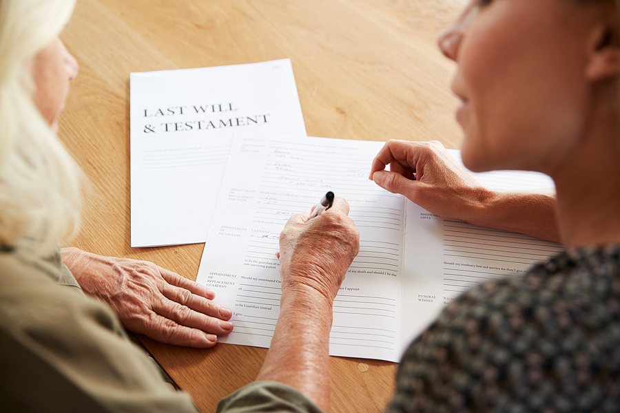Executor of a will in NSW helping an old woman complete her last will